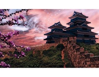 Japanese fortress | Photomontage