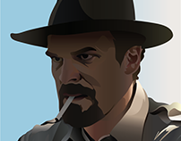 Stranger Things Jim Hopper made with gradients