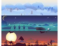 Scene illustrations