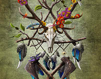 Deerskull dreamcatcher v3
