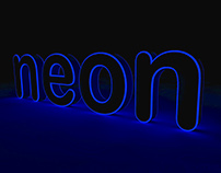 neon letters in CInema4D
