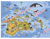 Australasia isometry flora&fauna map