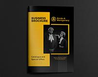 Brochure Design for Lawyer Fashion Brand