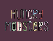 Hungry Monsters, a series of scary illustrations