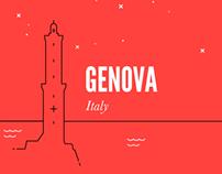 Genova in linee.