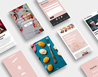 Web design concept for a bakery