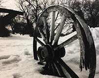 Old Western Wheel. (shot on a film Cannon Rebel)