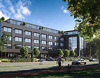 CGI: Office building in Solihull, UK