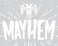 MAYHEM - HAND DRAWN FONT