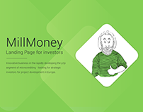 MillMoney - Landing Page for investors