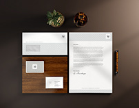 FREE Old School-ish stationary mockups