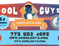 Cool Guys Heating & Air Marketing Concept
