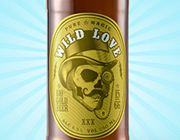 """Wild Love"" Beer Label"
