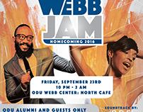 ODU Homecoming Webb Jam Fliers