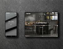 Website design for Fanal Cerámica