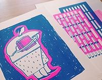 Creative Residency RISO printing