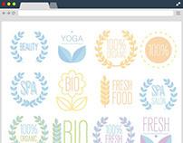 Free Natural Logos : Organic / Bio / Ecology