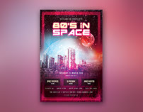 80s In Space Flyer