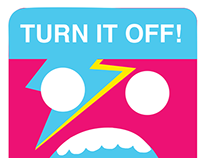 GO GREEN: Turn it Off Campaign stickers