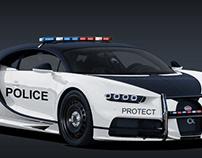 Bugatti Chiron Police Patrol