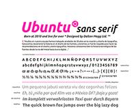 ESPECIMEN DESIGN - Typography #Ubuntu Family