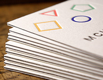 MCHNK. five color letterpress card