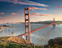 Golden Gate Bridge Matte Painting