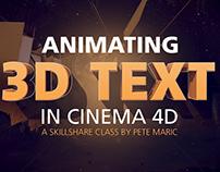 Animating 3D Text in Cinema 4D   Skillshare Class