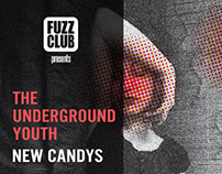 THE UNDERGROUND YOUTH - Hamburg show poster
