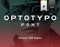 Optotypo Sans serif font