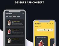 UI/UX Desert App Consept Design