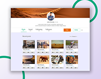 UI design of user profile