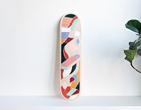 Visual Art on Skateboard