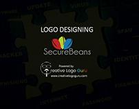 Secure Beans www.creativelogoguru.com
