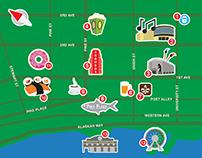 Teaching map of Seattle