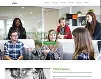Addvize Job Orange Website Design