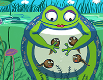 Frog Mama & Her Tadpoles