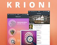 KRIONI App Design