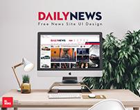 DAILYNEWS - Free News Site UI Design