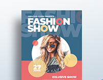 "Free Flyer Template ""Fashion Show"""