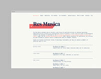 Res Musica - Web Design / Web Development