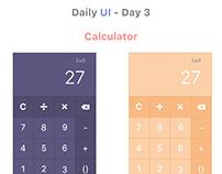 Simple Calculator #DailyUI #004