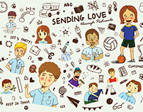 Sending Love Through Postcards