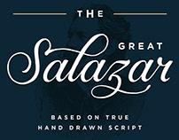 Salazar Lettering Script Font