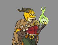 Gold Dragonborn Sorceress.