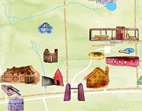 Philip Johnson Glass House map project