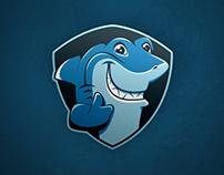 Swim Academy Mascott and Logo Design