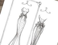 'Marie' - Wedding Dress Illustration
