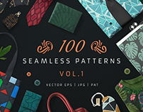 100 Seamless Patterns Vol.1