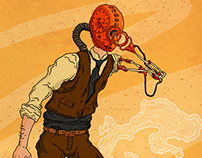 Steampunk Ochilă